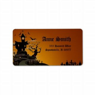 Spooky Halloween Address Labels