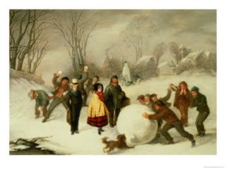 Snowballing Giclee Print by John Morgan