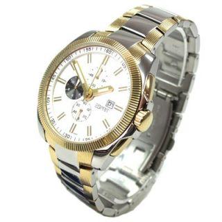 Herrenuhr fast lane silver gold Bi Color Chrono Datum Uhr UVP 159 Euro