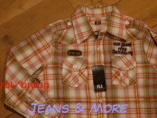 jungen Hemd Shirt Karriert rot / braun Gr. 122 146 164