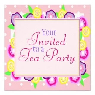 Mothers day tea party invitation