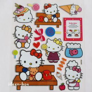 Hello Kitty 3D Sticker Aufkleber Laptop Bogen Glitzer 1