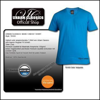 URBAN CLASSICS BASIC V NECK T SHIRT SHIRT ALLE FARBEN
