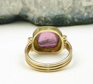 Antikschmuck Ring 585er ART DECO Turmalin Gold 585 Meisterpunze