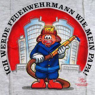 Kinder T Shirt Größe 164 Ich werde Feuerwehrmann wie mein Papa