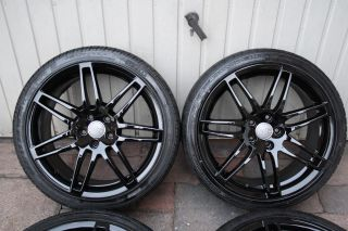 4x Originale Audi RS4 BLACK S line Alu Felgen Kompletträder 19 zoll