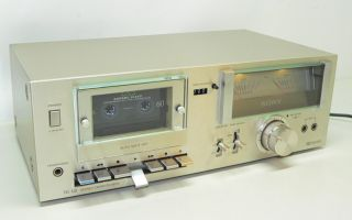 SONY TC U2 Vintage Stereo Cassette TAPE Deck in silber (178)
