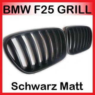 BMW F25 X3 Nieren Kühlergrill Front Grill Schwarz 2010