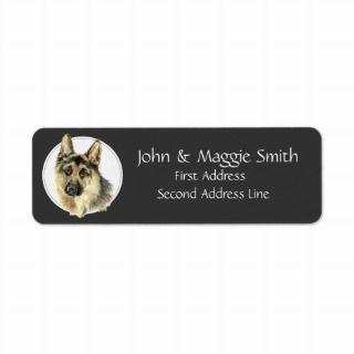 Custom,German Shepherd, Dog, Pet Address Label
