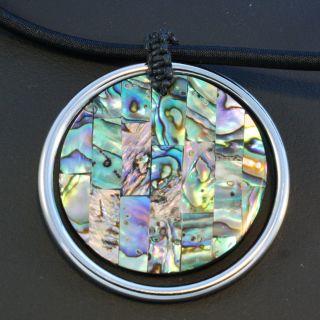 Halskette handgefertigt aus Perlmutt ( Abalone Muschel ) und einem