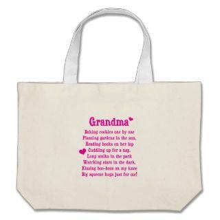Grandmas Poem Canvas Bag