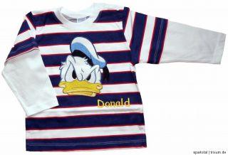 NEU Disney Donald Duck Langarmshirt Sweatshirt Pullover Pulli Gr.80