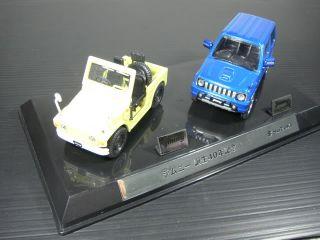 RARE 1/43 Scale Suzuki Jimny 40 Years 2 Cars Set with certificate