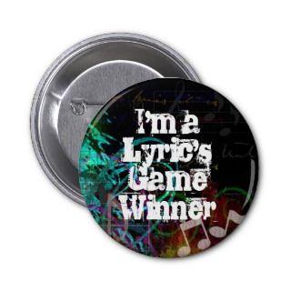 Lyrics Game Winner Pins
