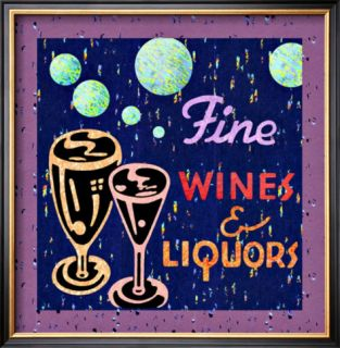 Fine Wines and Liquors Framed Giclee Print
