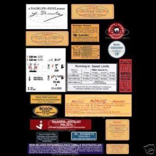 Ponton W120 W121 W105 W180 W128 180 190 220 decal sticker OEM quality