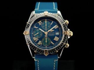 Breitling Crosswind Chronométre Chronograph Stahl/Gold Ref.B13355