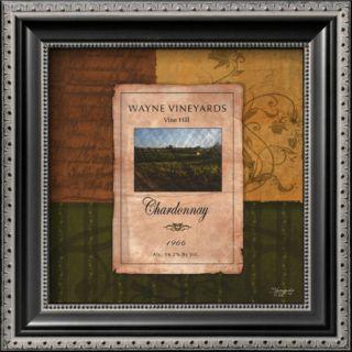Chardonnay Wine Label Prints by Shawnda Eva