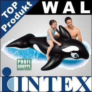 INTEX Reittier Aufblastier WAL / Luftmatratze 193x119cm
