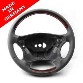Holz Leder Airbag Lenkrad Mercedes C Klasse W203 W 203