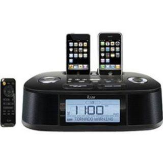 iLuv IMM183 Hi Fi Dual Alarm Clock Radio With NOAA S.A.M.E. Weather
