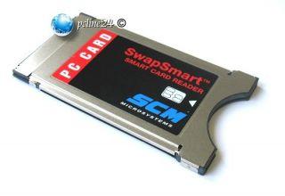 SCM SwapSmart Smart Card Reader SCR201 / SCR 201 PCMCIA
