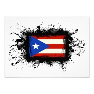 Puerto Rico Flag Personalized Announcement
