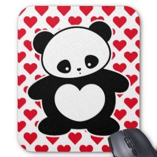 Kawaii panda mousepads