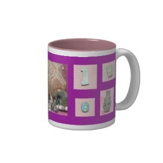 Purple Ancient Egyptian Amulets Mug.