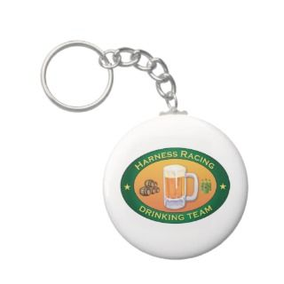 Harness Racing Drinking Team Key Chains