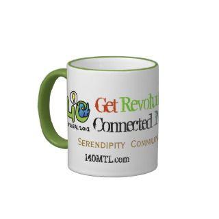 Social Media Coffee Revolutionary Minds   Green Coffee Mugs