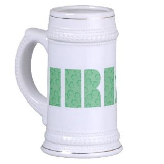 Kiss Me Im Irish Elegant Beer Stein Mug