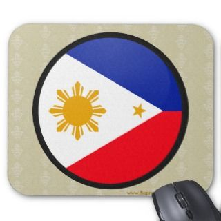 Philippines quality Flag Circle Mousepads