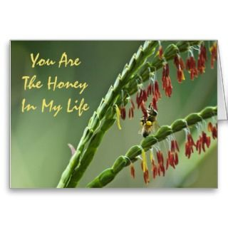 Honey Bee Valentine Card