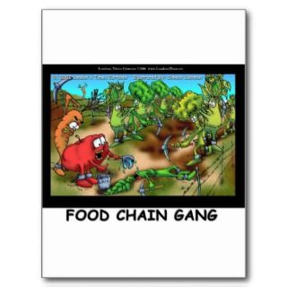 Food Chain Gang Funny Gifts Tees & Collectibles Post Cards