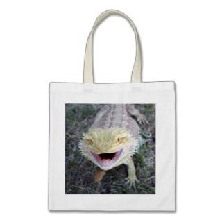 Super Happy Bearded Dragon Canvas Bags