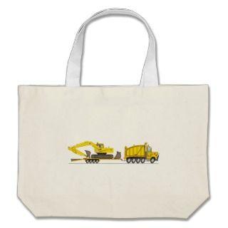 Heavy Duty Dump Truck Crane Tote Bags