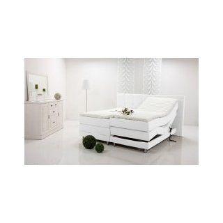 ALESSA Boxspringbett elektrisch verstellbar, 140 x 200, weiss