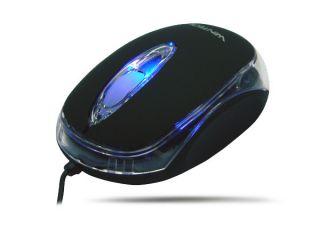 Schwarz/Black PC/Notebook/Laptop Mini USB Optische Maus Optical Mouse