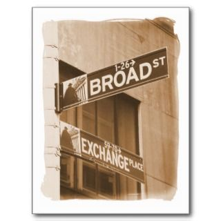 Broad St. Exchange Place Post Card