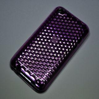 TPU Silikon Hülle iPod touch 4G Tasche Cover Case Schutzhülle Lila