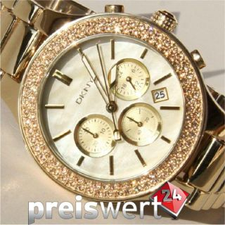 DKNY Damen Uhr Chronograph NY8178 gold NEU UVP 225 €