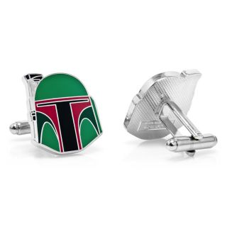 Star Wars Boba Fett Helmet Cufflinks SW BFH SL cuff links darth gift