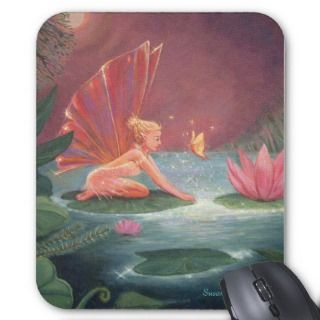 The Lotus Pond Fairy Mouse Mat Mouse Pads
