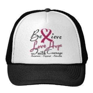 Sickle Cell Anemia Believe Heart Collage Trucker Hats