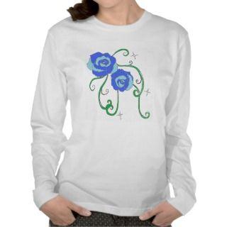 Blue Roses T Shirts