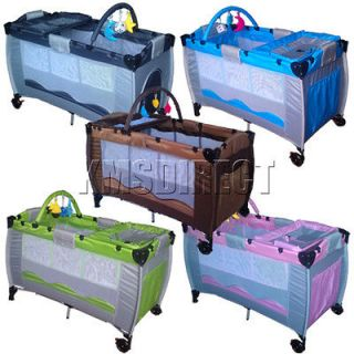 New Portable Child Baby Travel Cot Bed Bassinet Playpen Play Pen With