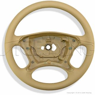 Mercedes CLS Class W219 2004 2008 Leather Steering Wheel kashmirbeige