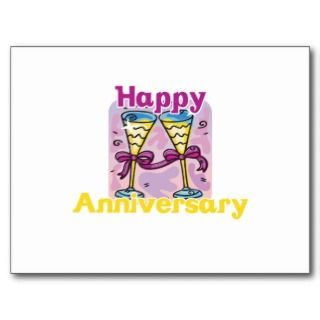 Cute, Happy Anniversary design Post Card