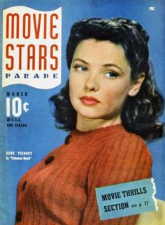 Gene Tierney   Movie Stars Parade Magazine Cover 1940s Masterprint